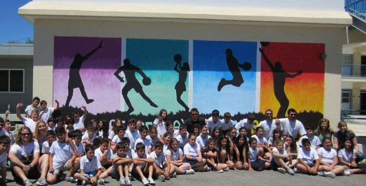 Last year peaceplayers painted a special mural with the for Mural school
