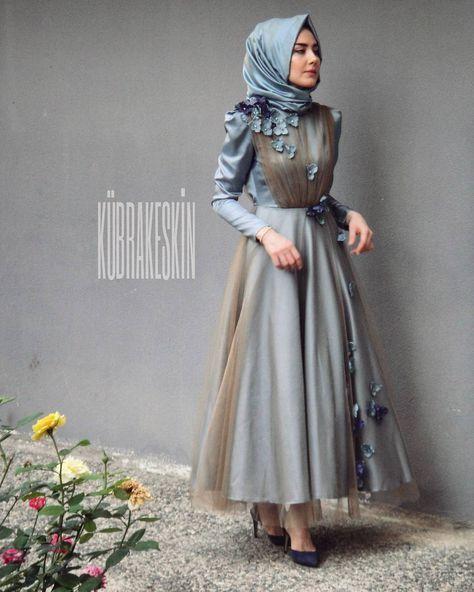 Nişanda Giymek İçin Tesettür Abiye Modelleri #fashiontag