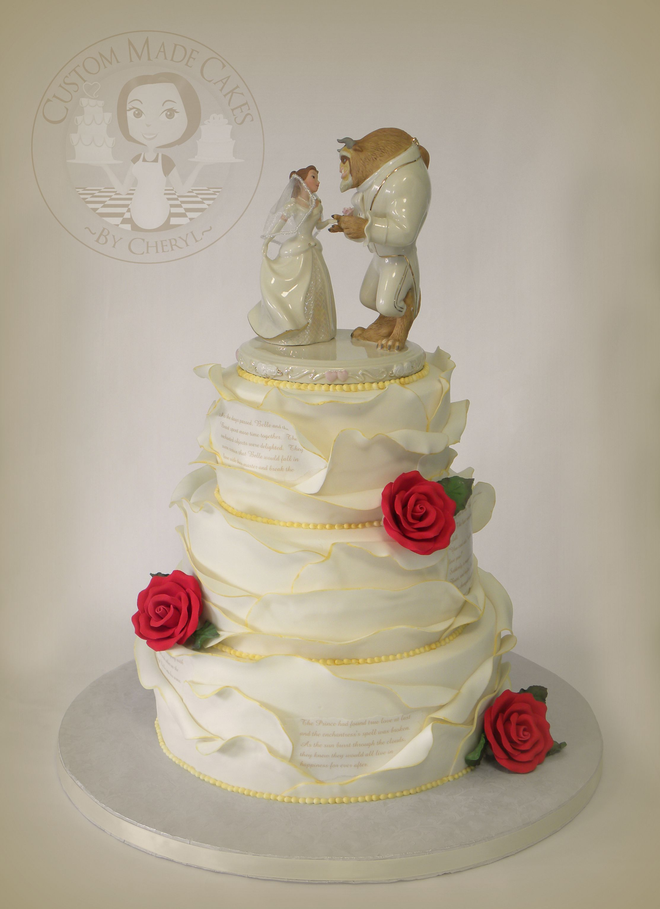 Beauty and the Beast Wedding cake Wedding cake ideas Pinterest
