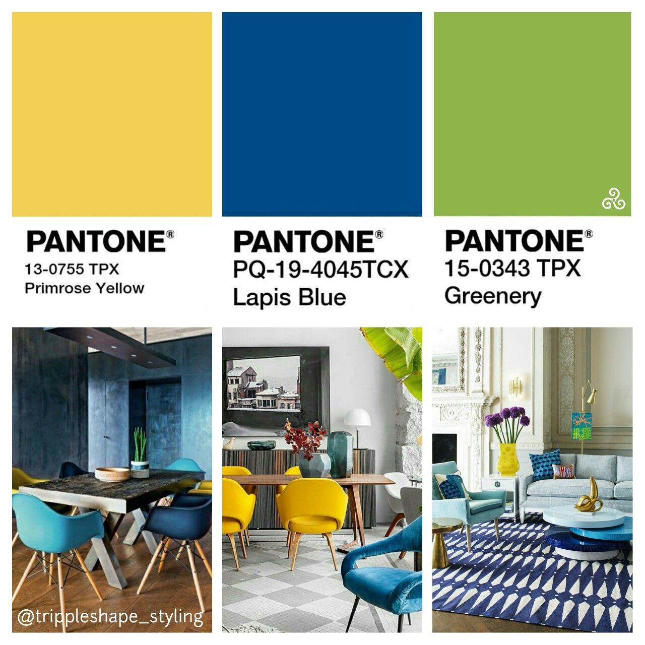 pantone colors 2017 lapis blue & greenery with a touch of primrose
