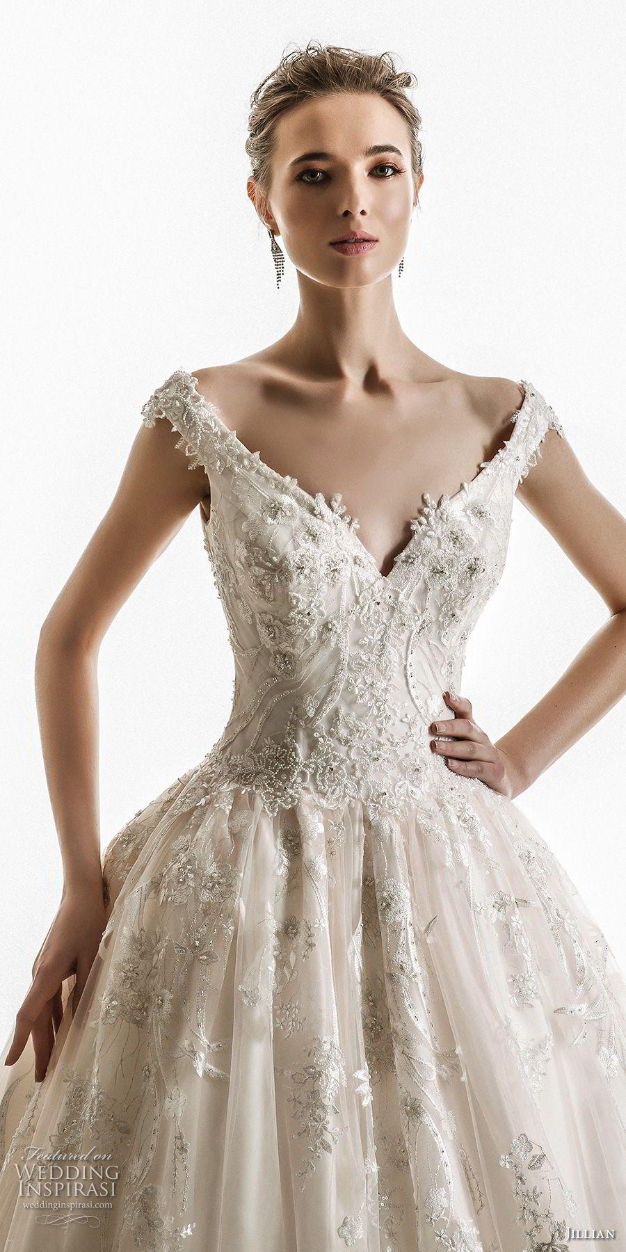 Jillian wedding dresses chapel train ball gowns and bodice