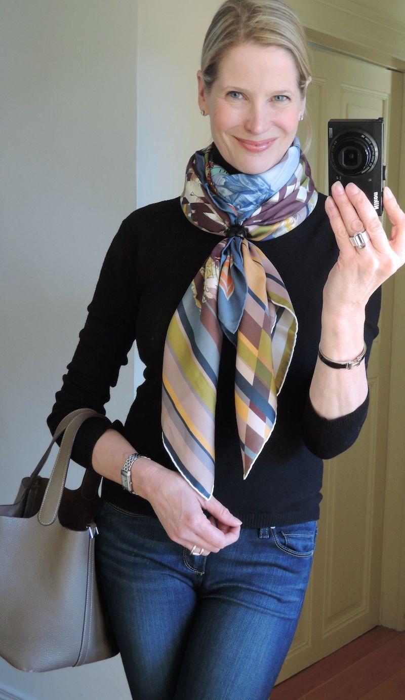 как завязать черный платок