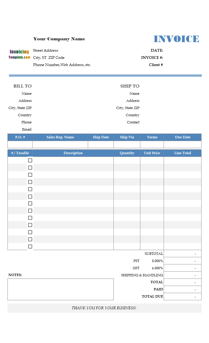 Multiple Page Excel Invoice Templates With Regard To Invoice Template For Pages Invoice Template Invoice Template Word Photography Invoice Template
