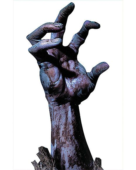 Zombie Hand Window Cling Decorations Spirithalloween Com Zombie Hand Zombie Halloween Artwork