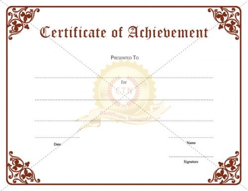 Certificate Of Achievement Template awarded for different - best of recognition award certificate wording