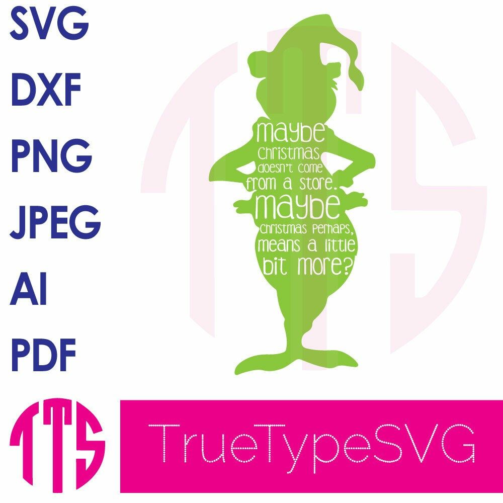 how the grinch stole christmas svg silhouette quote - How The Grinch Stole Christmas Pdf