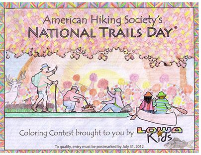 2012 national trails day coloring contest winners  by anna kochevar  winner in the 11 12 yr old Coloring Contest Flyer  Coloring Contest Age Groups
