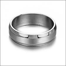 Mens Wedding Bands Titanium Silver Simple Slippy Quadrate, USD16.99 Before Discount, FREE Shipping, FREE Returns