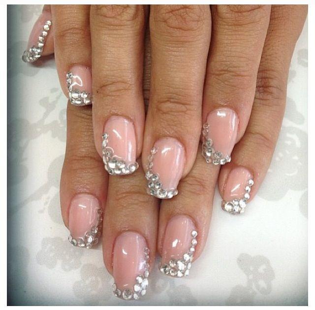 Wedding nails   Swarovski nails, Wedding nails, Bling nails