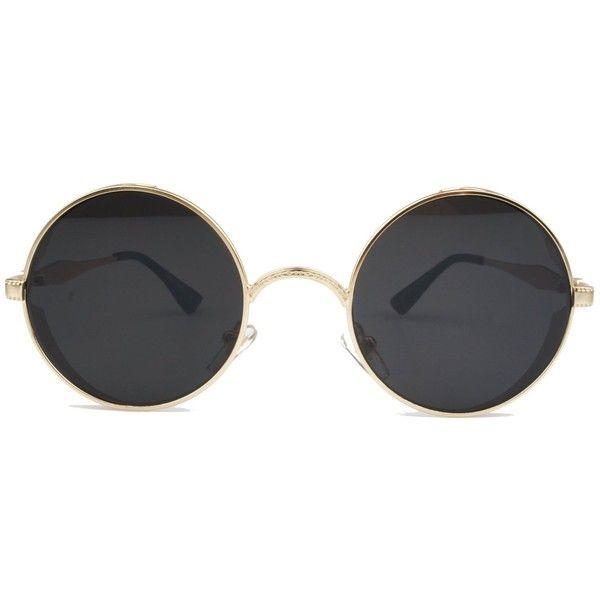 Vintage Hippie Retro Metal Round Circle Frame Sunglasses ($13 ...