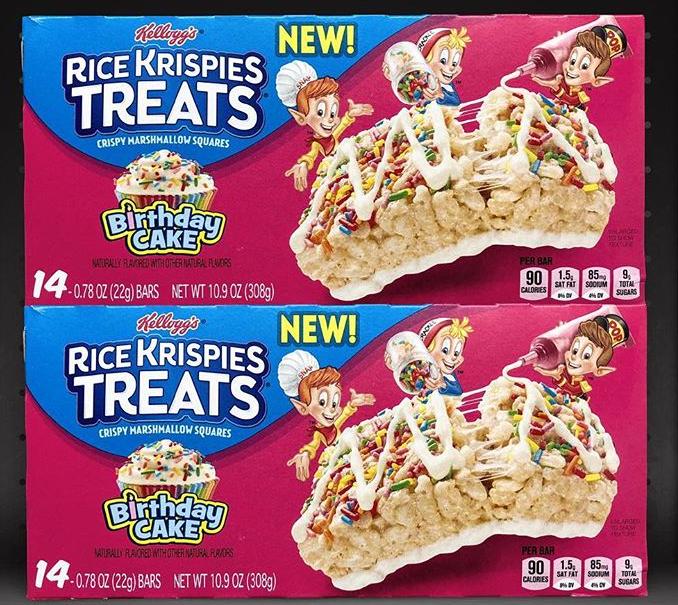 Rice Krispie Birthday Cake Cereal Bars