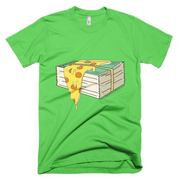 Money Over Pizza by @PESKYstuff Short sleeve men's t-shirt