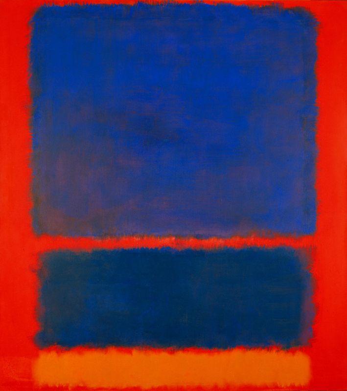 mark rothko blue orange red 1961 al muro pinterest blue orange. Black Bedroom Furniture Sets. Home Design Ideas