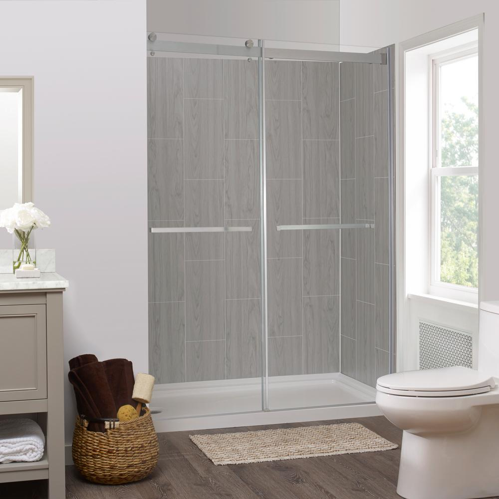 Foremost Lagoon 60 In X 78 In Left Drain Alcove Shower Kit In
