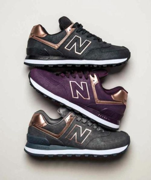 new balance 574 dames metallic
