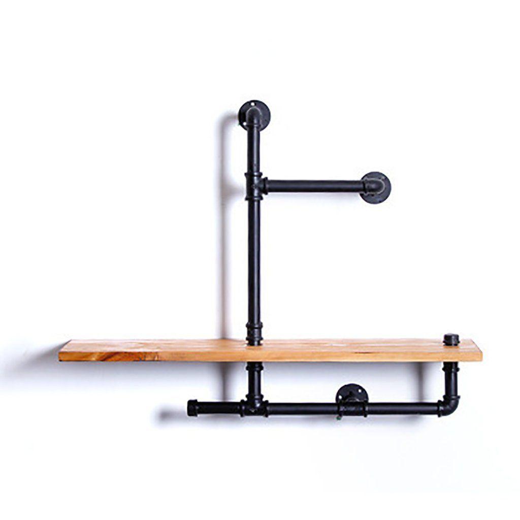 Mensola in ferro Mensola in legno massiccio Mensola da ...