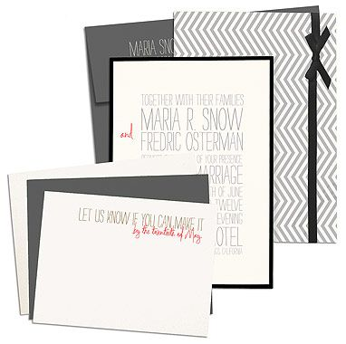 modern and casual invites