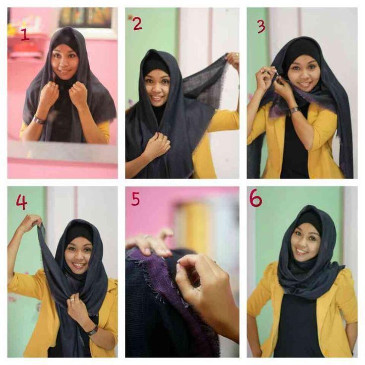 Tutorial Hijab Segi Empat Simple Kursus Hijab Gaya Hijab Fotografi