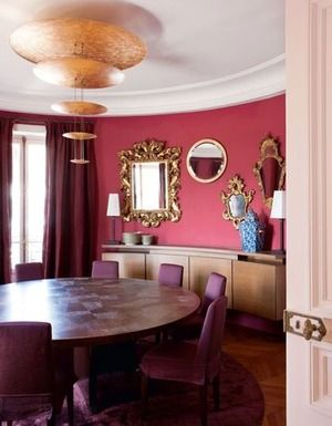 Paris Un Appartement Familial Avec Vue Sur La Tour Eiffel Pink Dining RoomsColorful