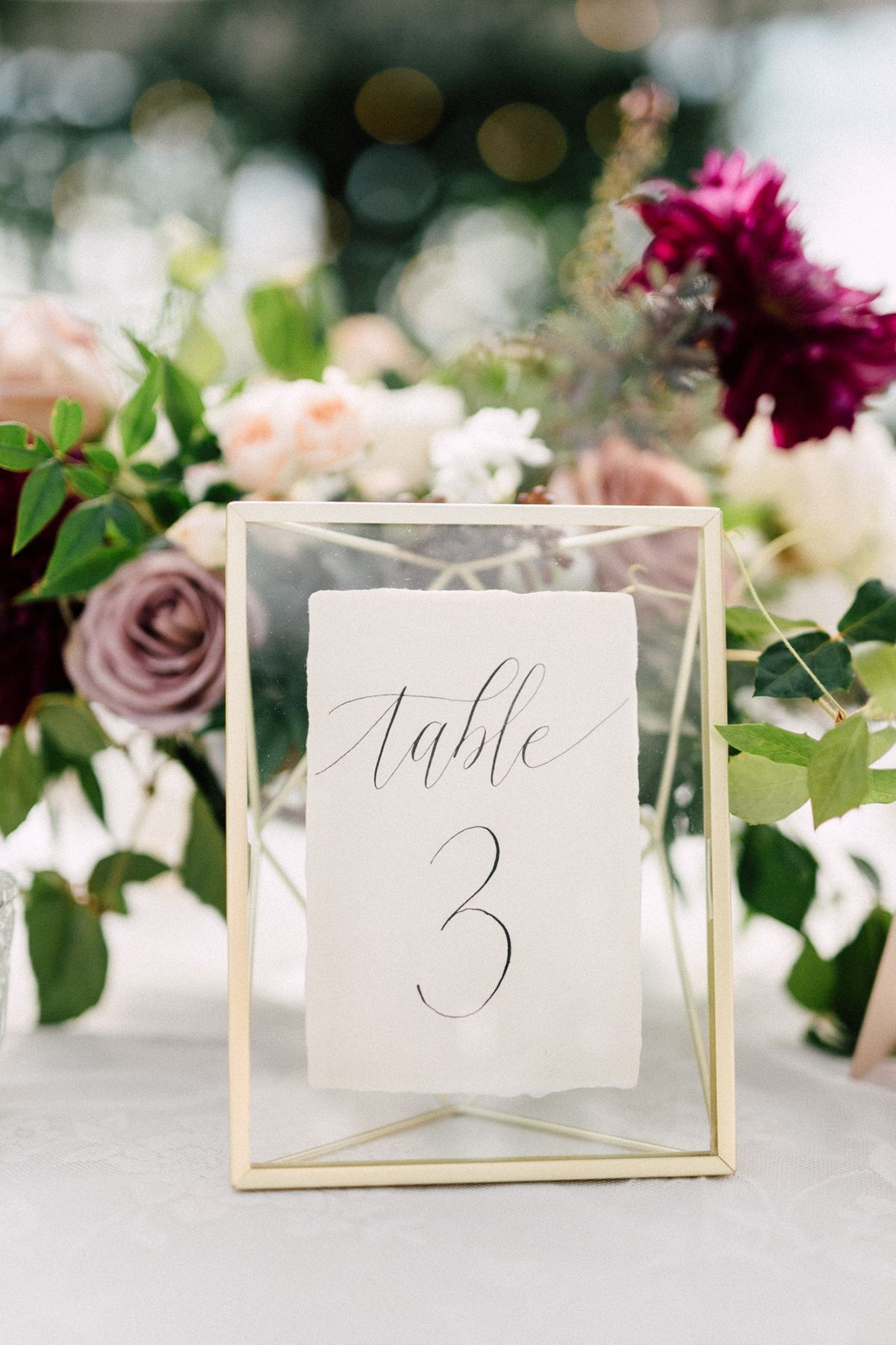Chic Niagara on the Lake Vineyard Wedding table numbers