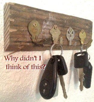 Key Holder Using Old Keys In 2020 Key Holder Diy Key Crafts Old Keys