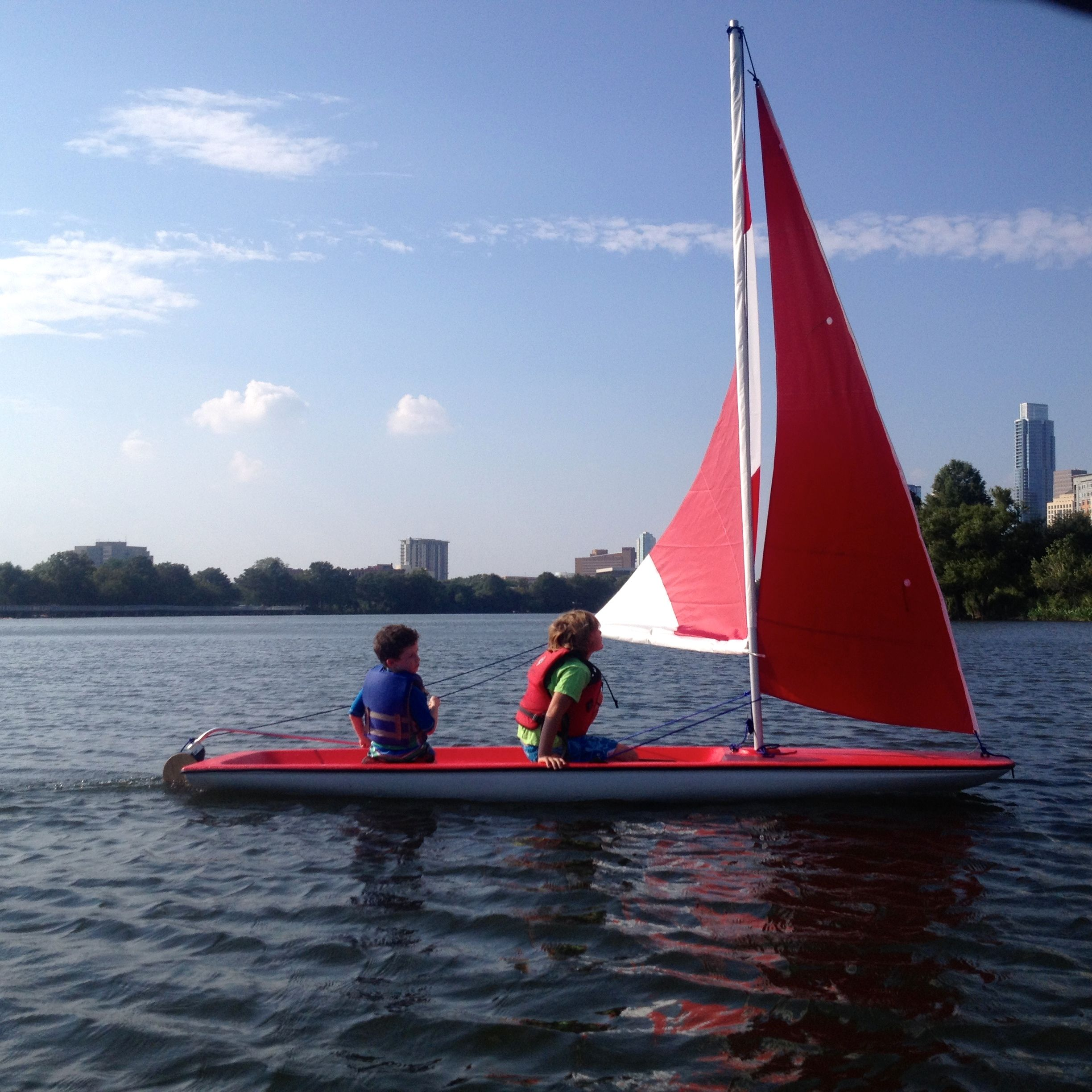 Our sea skimmer dinghy comes with a jib sail and is so