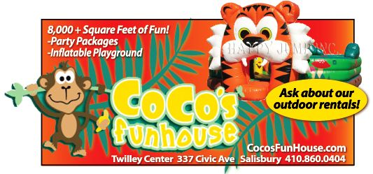 Kids Going Bonkers Take Them To Coco S Funhouse Of The Twilley Center In Salisbury Md For A Great Time Party Packages Fun Frosted Flakes Cereal Box