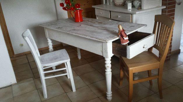 uralter traumhafter Tisch,Esstisch,Shabby,Vintage, | Shabby chic ...