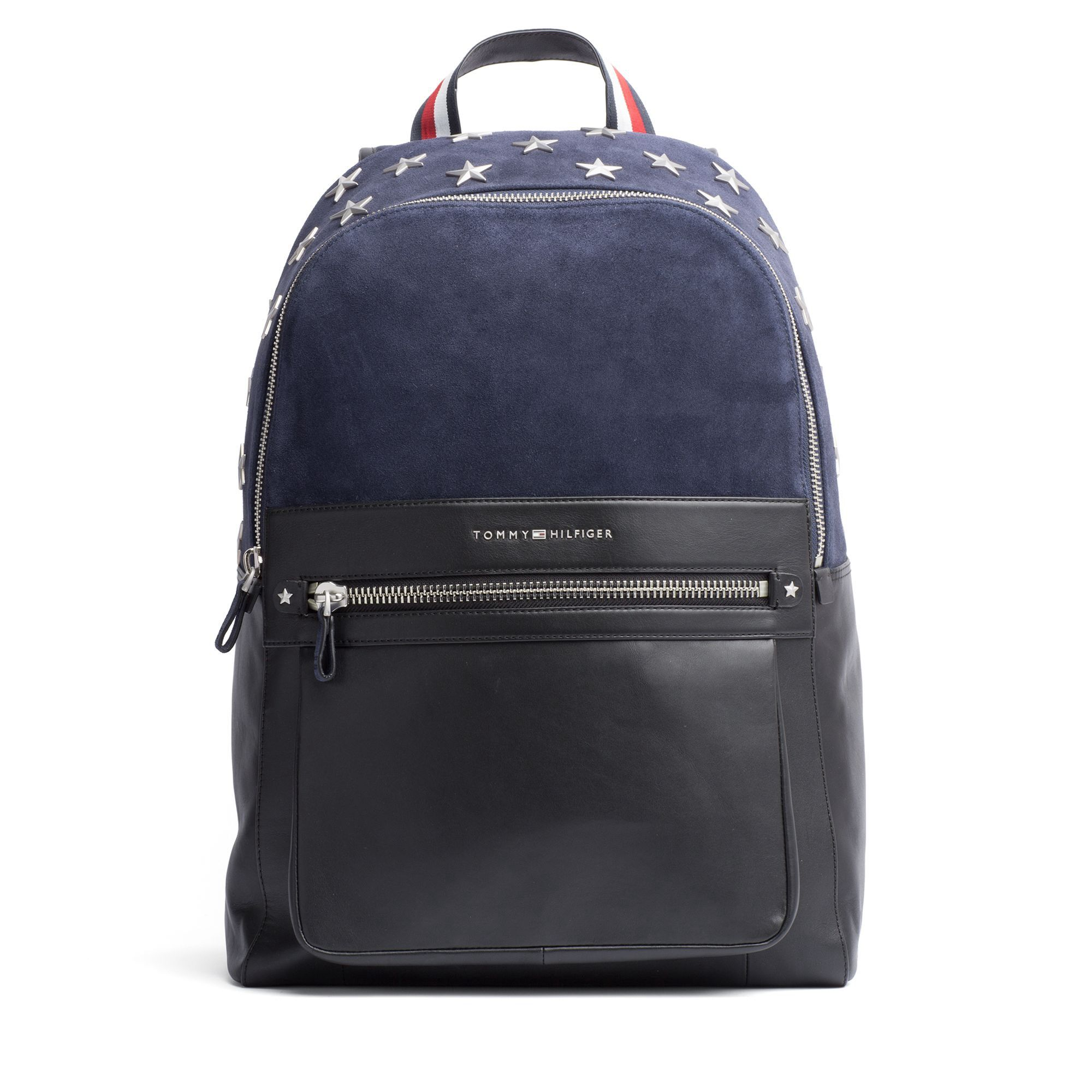 6a95f0cece50 TOMMY HILFIGER STAR STUDDED SUEDE BACPACK - NAVY MIX.  tommyhilfiger  bags   backpacks  suede