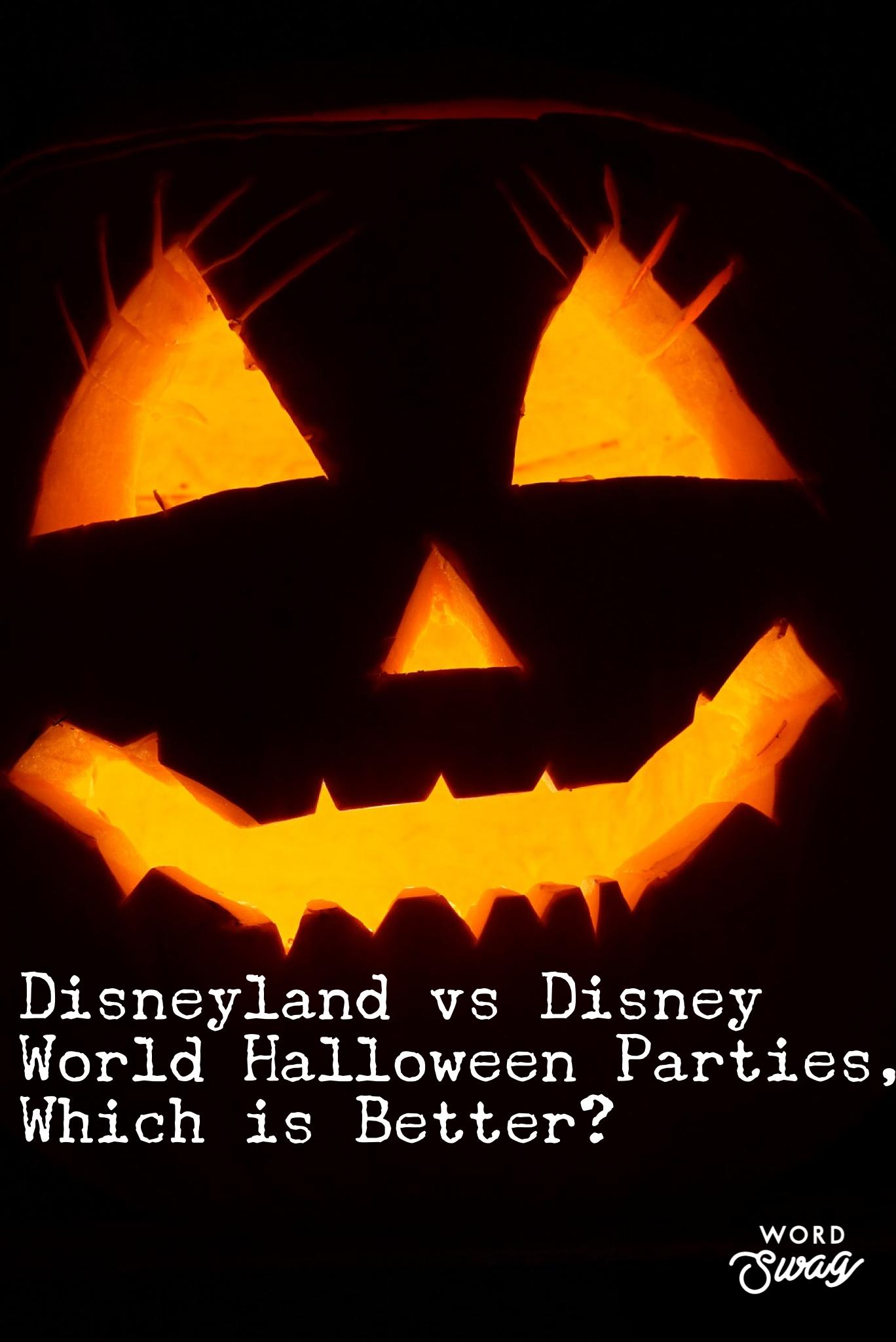 Disneyland vs Disney World Halloween party! What are the