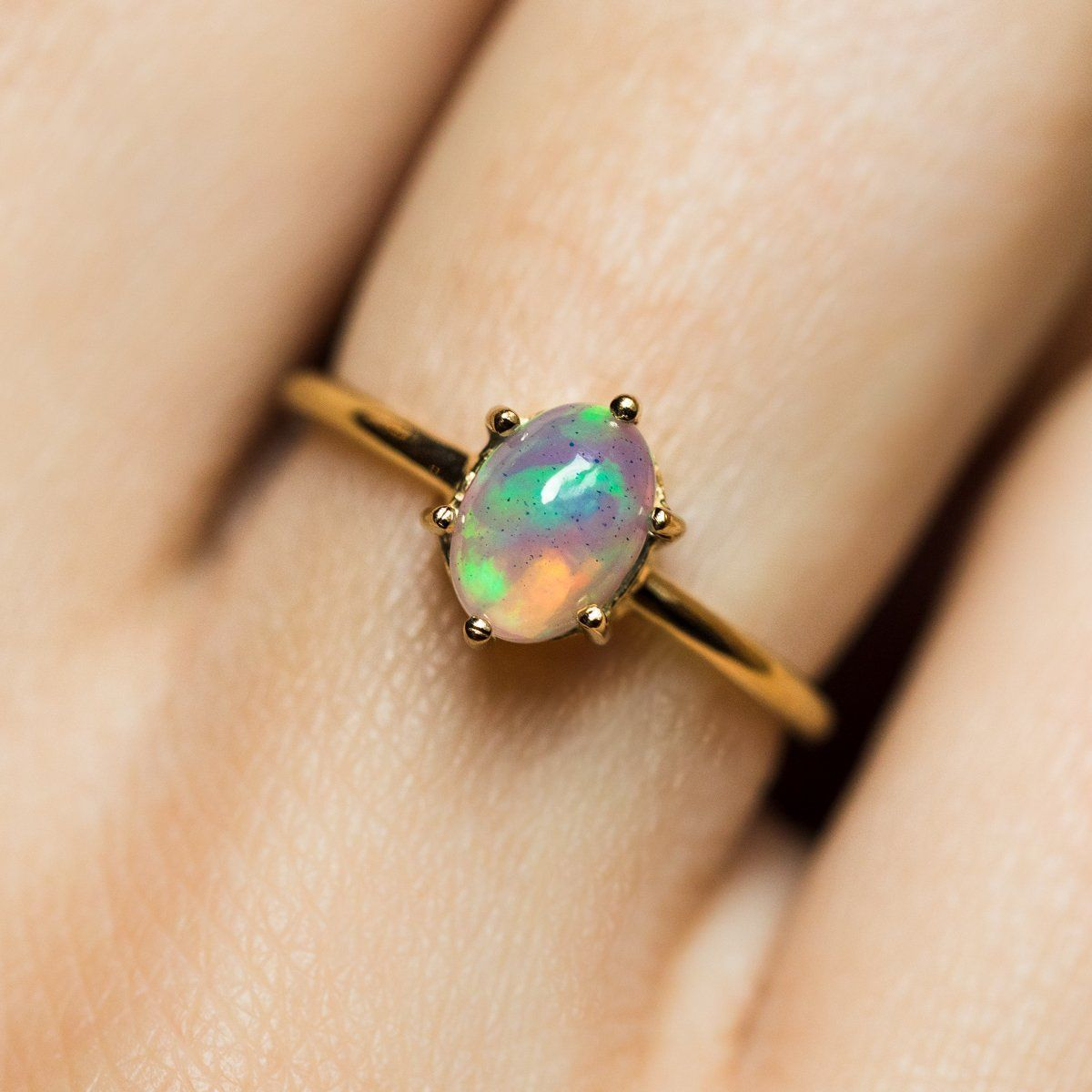 Everly Opal Ring engagement ring rose gold