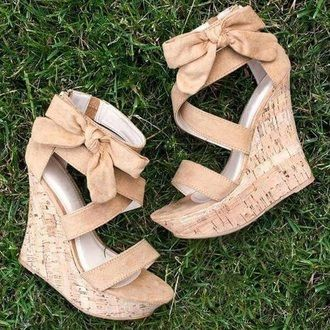 d084d2c8c9b4 shoes nude high heels nude pumps nude heels nude heels wedges bows bow  summer platform shoes beige sandals cork wedges wedge sandals bow shoes