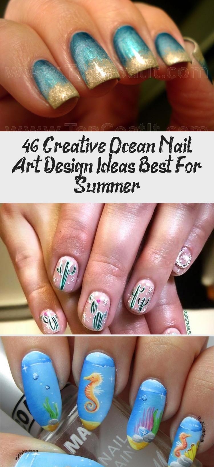 46 Kreative Ocean Nail Art DesignIdeen am besten für den
