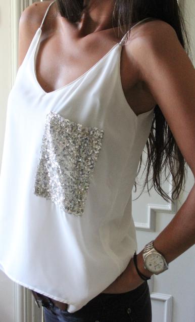 Sequin wings blouse - Blusas , camisas & camisetas
