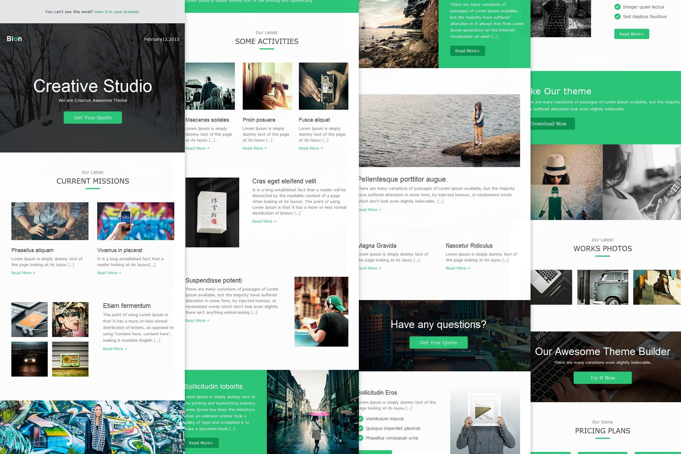 Bion Responsive Email Template By Williamdavidoff On