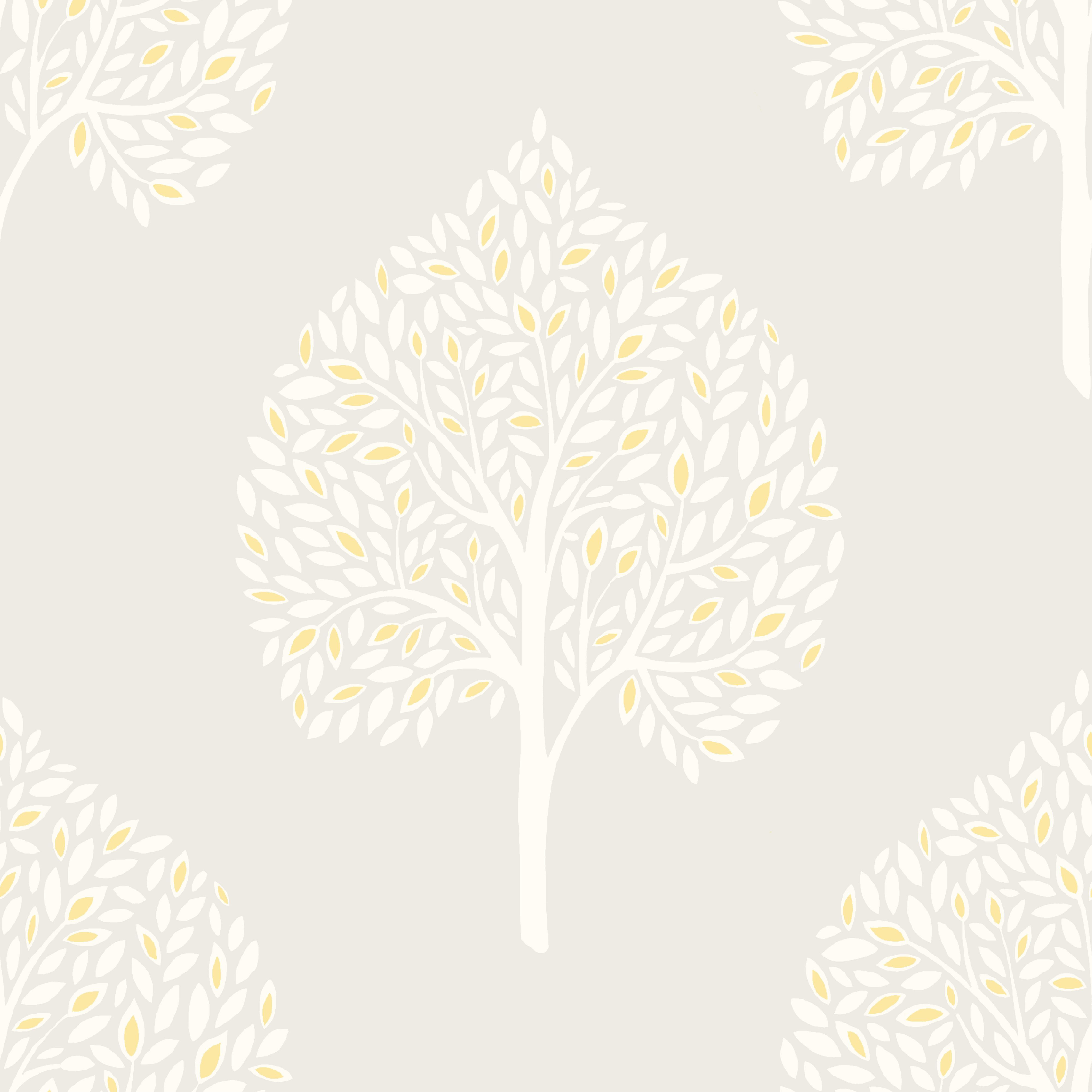 Rowan French Grey Trees Mica Wallpaper - Departments - Diy