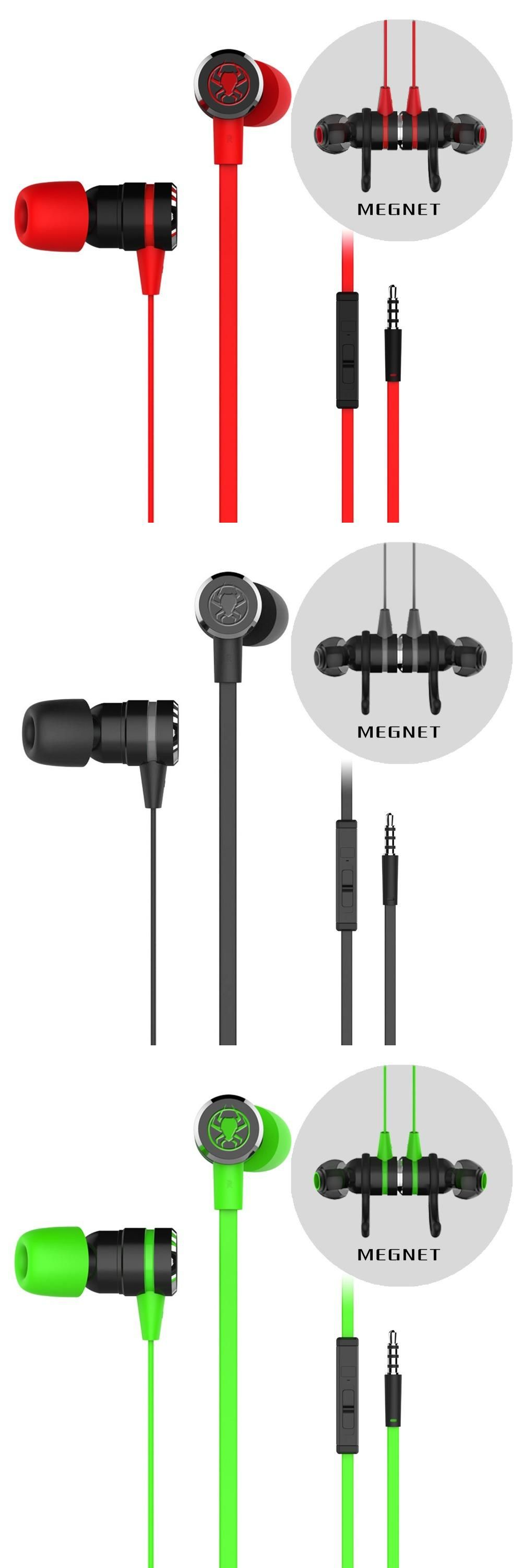 PLEXTONE G20 In Ear Professional Gaming Headset 3 5mm Noise Cancelling Stereo Bass Sport Eearphone with Memory Foam with mic