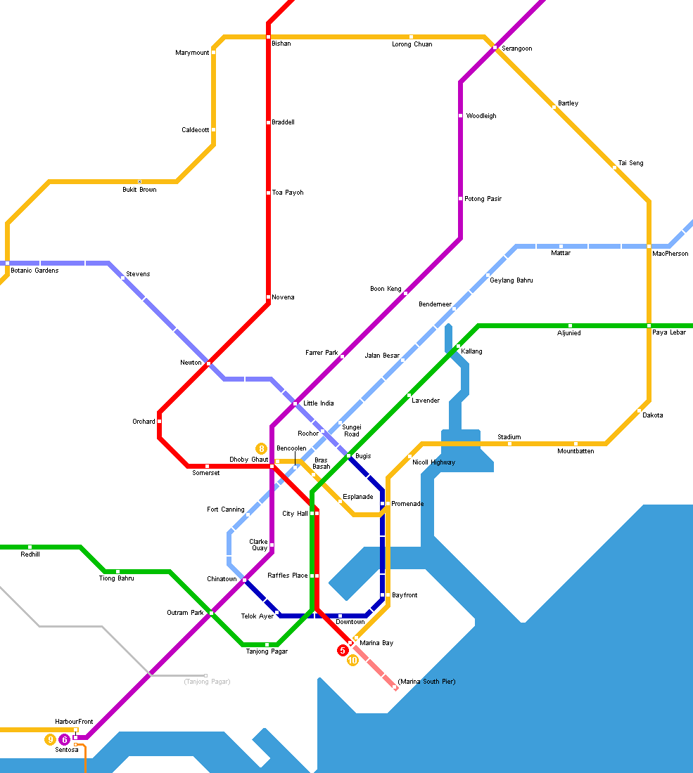 Singapore | Singapore map, Singapore island, Metro map