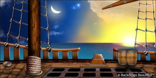 Pirate Ship Deck Backdrop Backdrops: Pirate Ship...