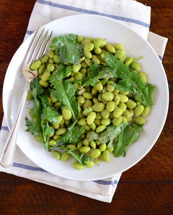 Edamame Salad with Miso Dressing