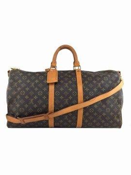 1cd1682d24e6 Louis Vuitton Vintage Monogram Keepall Bandouliere 55 Duffel Bag ...