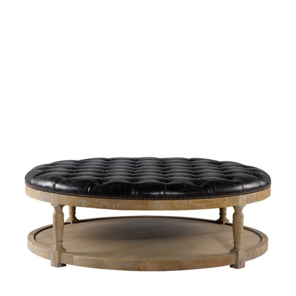 Large Black Ottoman Coffee Table
