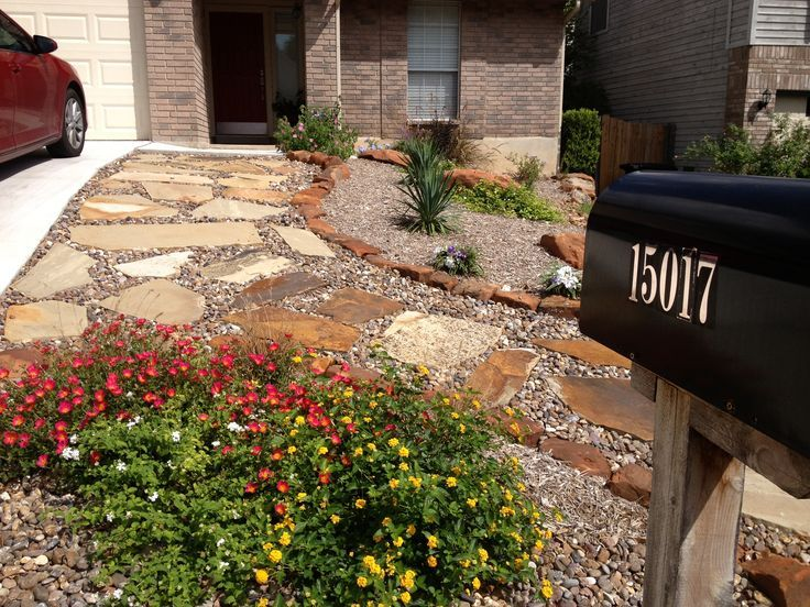 Texas xeriscape ideas front yard xeriscaping front for Xeriscape garden designs