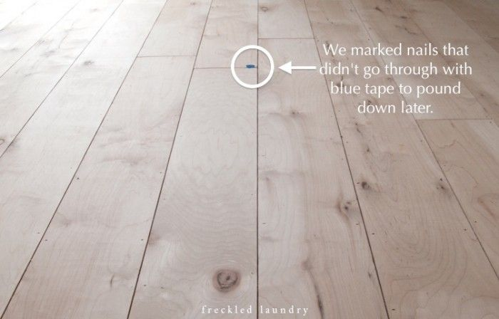 Maple Plywood Planked Floor Process Flooring Plywood Plank Flooring Family Room Paint