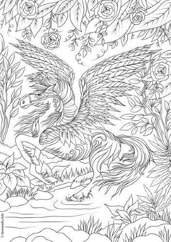 The Land of Fantasia – Pegasus | Pegasus | Pinterest | Filigrana en ...