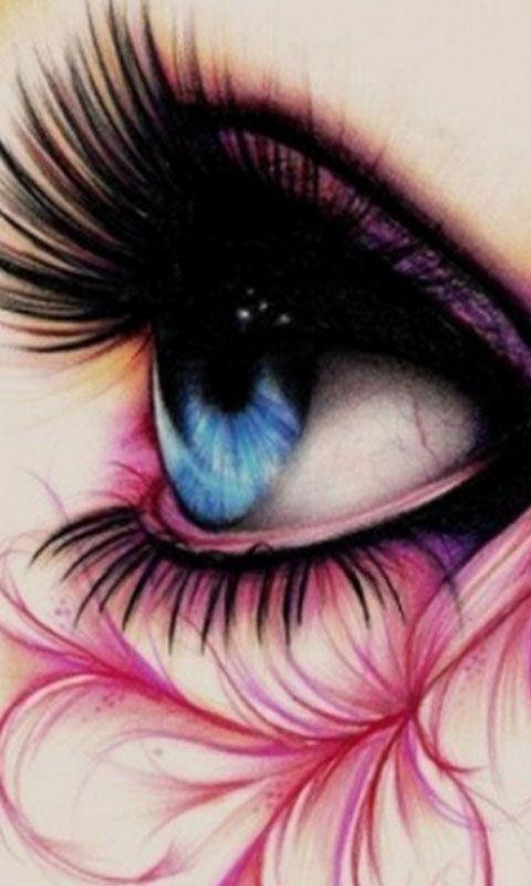 Pink Artsy Eye Eyes Wallpaper Eye Art Beautiful Eyes