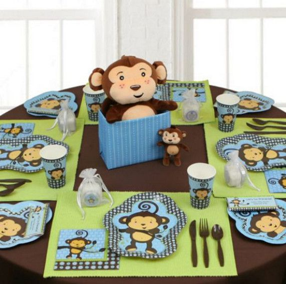 monkey themed baby shower centerpieces  baby shower, Baby shower invitation