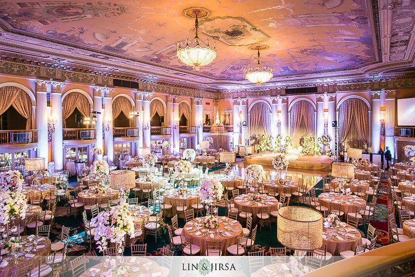 Millennium Biltmore Hotel Los Angeles Indian Wedding Reception