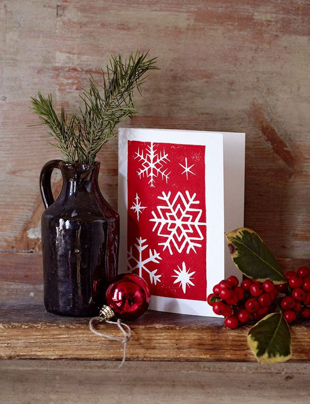 Make your own Christmas cards | Lino | Pinterest | Christmas Cards ...