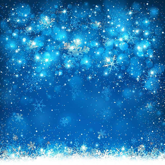 Beautiful Snowflakes 10ft X 10ft Backdrop Computer By